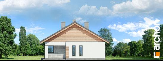 Elewacja boczna projekt dom w modrzewnicy 3 g2  265