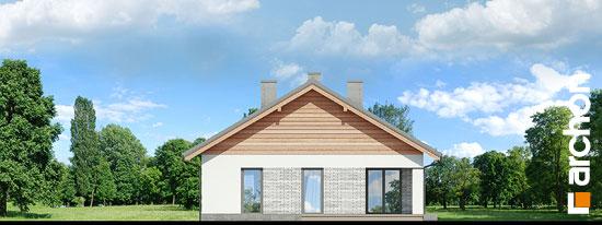 Elewacja boczna projekt dom w modrzewnicy 3 g2  266