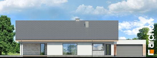 Elewacja frontowa projekt dom w modrzewnicy 3 g2  264