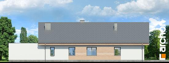 Elewacja ogrodowa projekt dom w modrzewnicy 3 g2  267