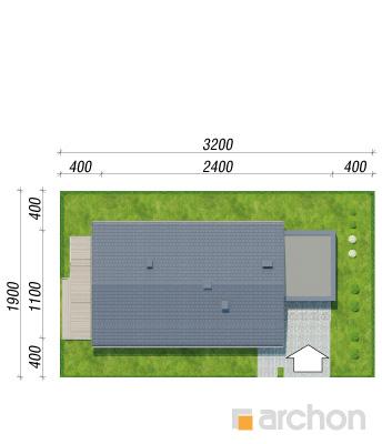 projekt Dom w modrzewnicy 3 (G2) sytuacja