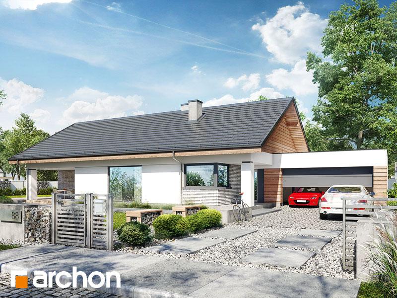projekt Dom w modrzewnicy 3 (G2) widok 1