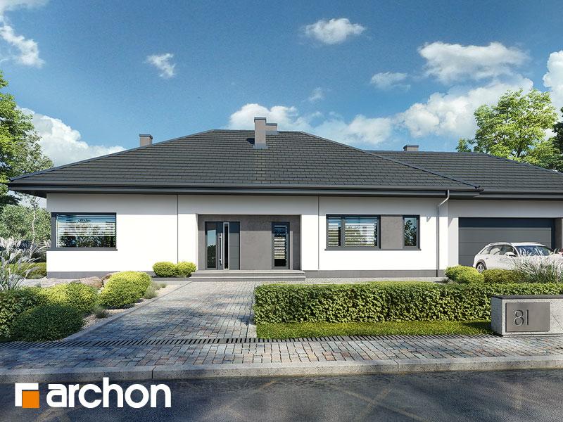 gotowy projekt Dom w przebiśniegach 18 (G2E) widok 2