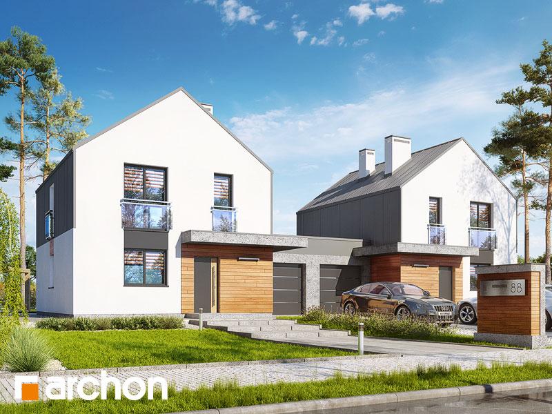 gotowy projekt Dom w arkadiach 3 (GR2) widok 1
