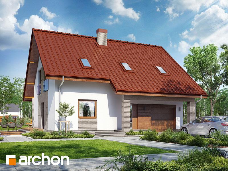 gotowy projekt Dom w pięknotkach 2 widok 1