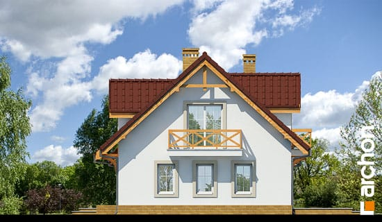 Elewacja boczna projekt dom w poziomkach 4 ver 2  265