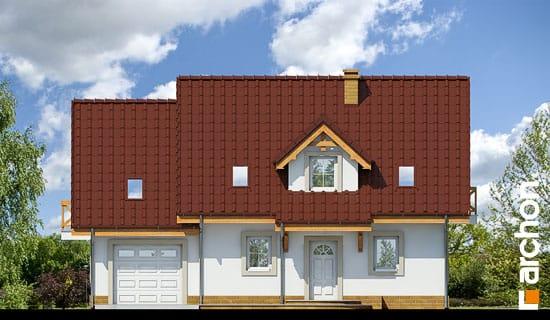 Elewacja frontowa projekt dom w poziomkach 4 ver 2  264