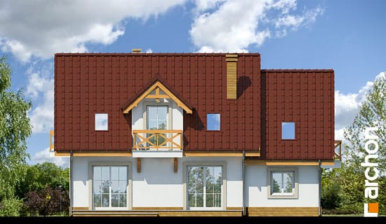 Elewacja ogrodowa projekt dom w poziomkach 4 ver 2  267