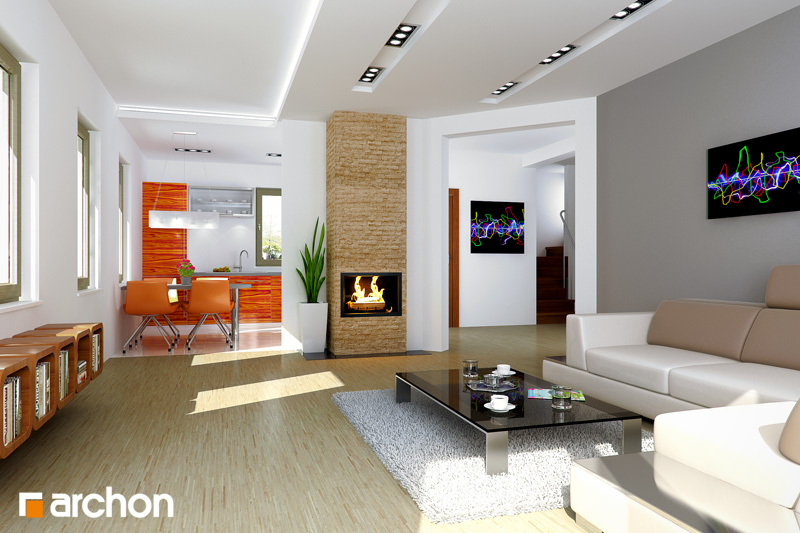 Projekt Domu Dom W Poziomkach 4 Ver2 Galeria Archon