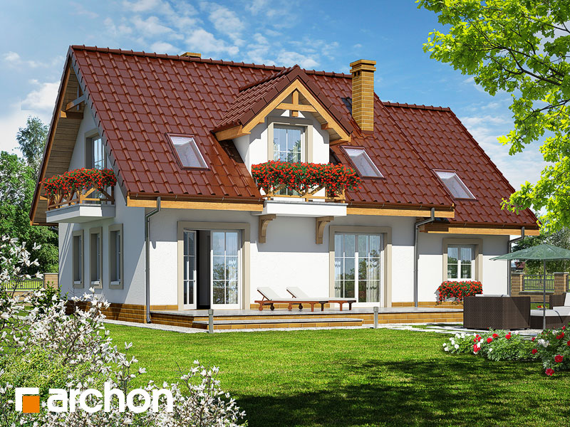 gotowy projekt Dom w poziomkach 4 widok 1