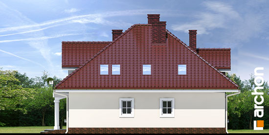 Elewacja boczna projekt dom w tymianku ver 2  265