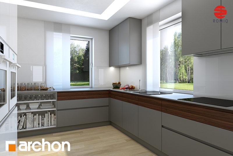 Projekt domu Dom w tymianku ver 2 Koszty budowy  ARCHON+ -> Kuchnie Pod Zabudowe Male