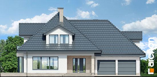 Elewacja frontowa projekt dom w czarnuszce g2pa  264
