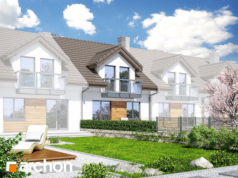 gotowy projekt Dom w ostróżkach widok 1