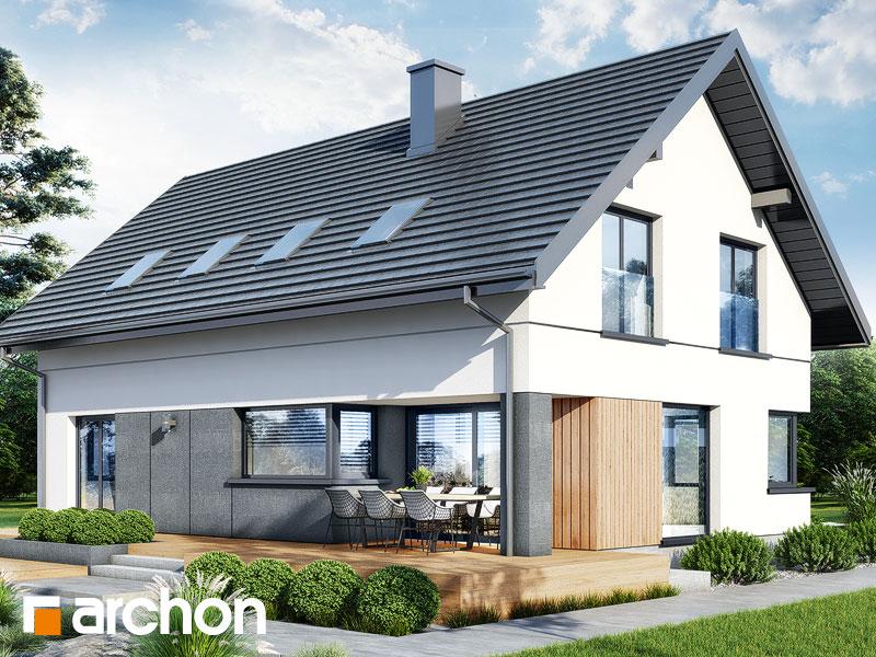 gotowy projekt Dom w szarotkach (G2E) widok 2