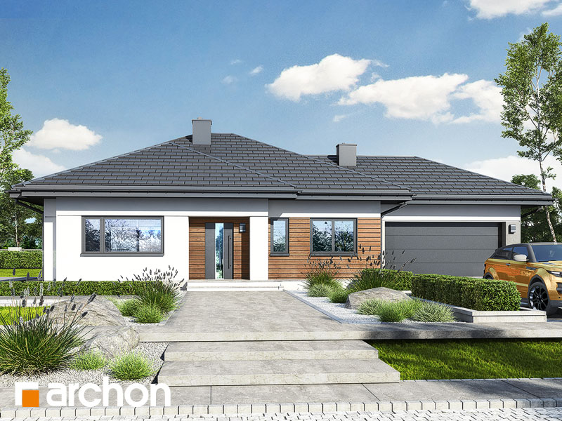 gotowy projekt Dom w modrzykach 3 (G2) widok 1