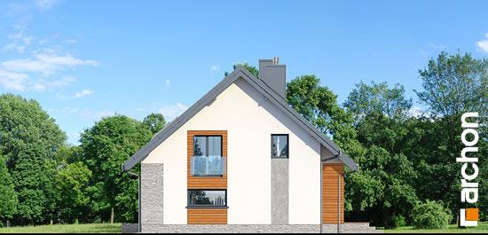 Elewacja boczna projekt dom w bugenwillach g2p  265