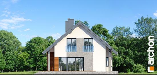 Elewacja boczna projekt dom w bugenwillach g2p  266