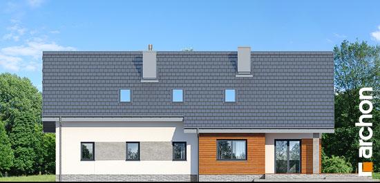 Elewacja ogrodowa projekt dom w bugenwillach g2p  267