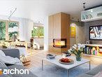 projekt Dom w bugenwillach (G2P) Strefa dzienna (wizualizacja 1 widok 1)