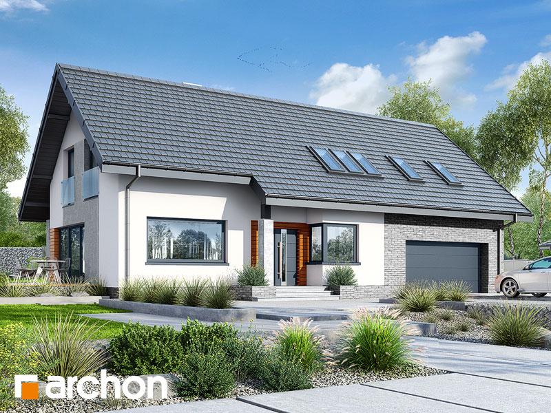gotowy projekt Dom w bugenwillach (G2P) widok 1