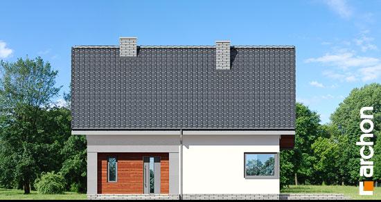 Elewacja frontowa projekt dom w malinowkach  264