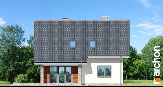 Elewacja ogrodowa projekt dom w malinowkach  267