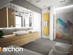 projekt Dom w malinówkach Wizualizacja łazienki (wizualizacja 3 widok 1)