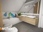projekt Dom w malinówkach Wizualizacja łazienki (wizualizacja 3 widok 3)