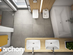 projekt Dom w malinówkach Wizualizacja łazienki (wizualizacja 3 widok 4)