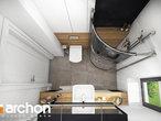 projekt Dom w malinówkach Wizualizacja łazienki (wizualizacja 4 widok 4)