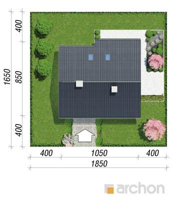 projekt Dom w malinówkach sytuacja