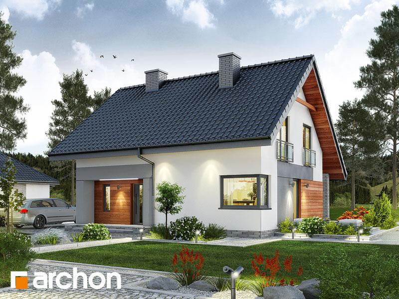 gotowy projekt Dom w malinówkach widok 1