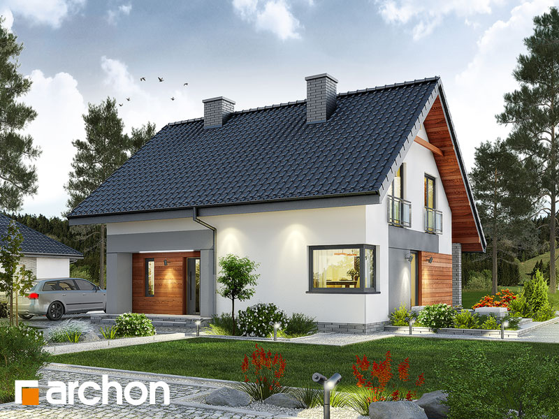 projekt Dom w malinówkach widok 1