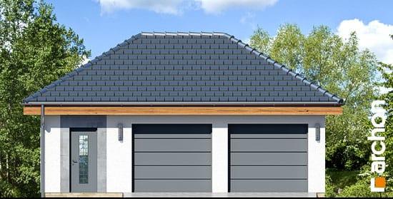 Elewacja frontowa projekt garaz 2 stanowiskowy g25  264