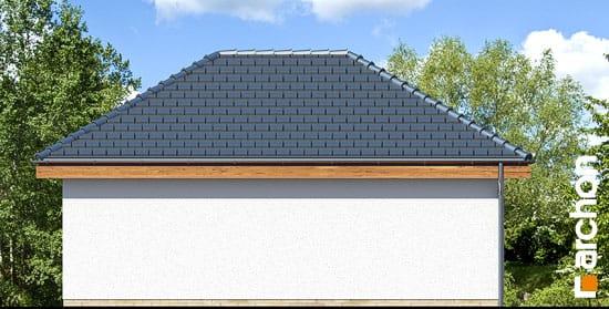 Elewacja ogrodowa projekt garaz 2 stanowiskowy g25  267