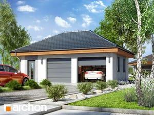 projekt Garaż 2-stanowiskowy G25