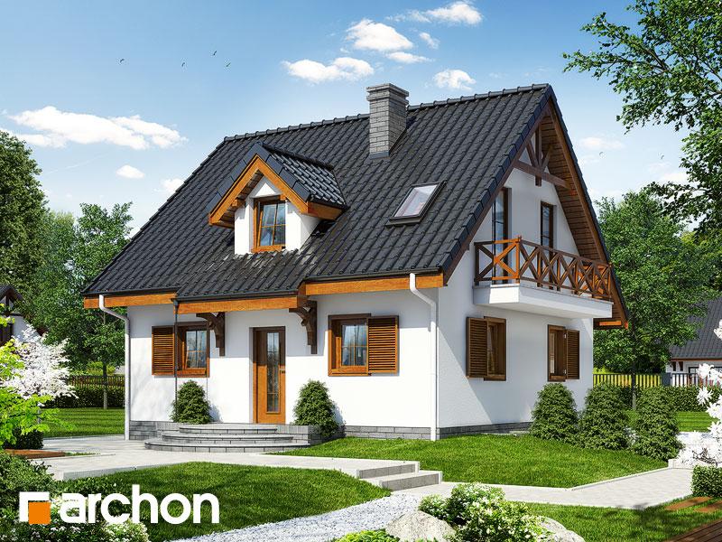 gotowy projekt Dom w poziomkach 3 (P) widok 1