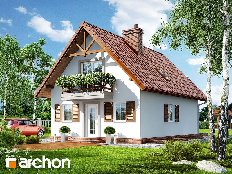 gotowy projekt Dom pod kasztanem 2 (P) widok 1