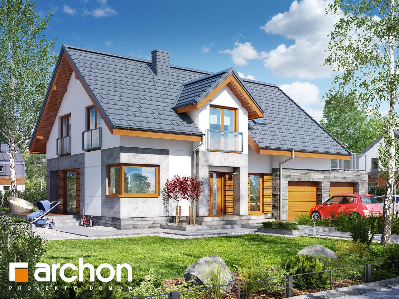 projekt domu dom w janowcach g2 archon. Black Bedroom Furniture Sets. Home Design Ideas