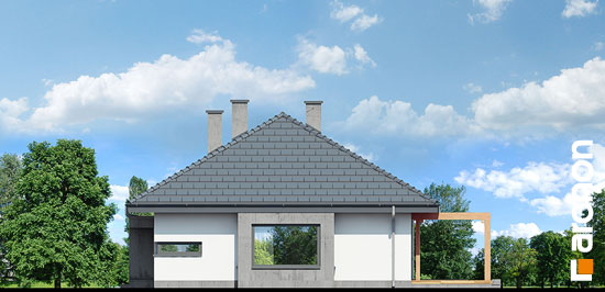 Elewacja boczna projekt dom pod jarzabem gna  265