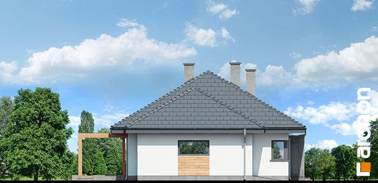 Elewacja boczna projekt dom pod jarzabem gna  266