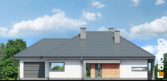 Elewacja frontowa projekt dom pod jarzabem gna  264