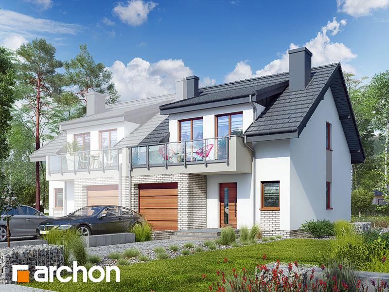gotowy projekt Dom w klematisach 20 (BA) widok 1