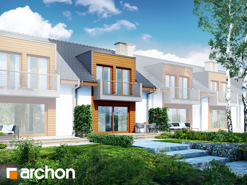 gotowy projekt Dom w klematisach 18 (S) widok 1