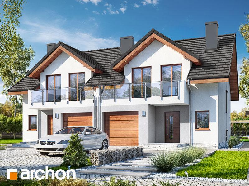 gotowy projekt Dom w klematisach 21 (R2) widok 1