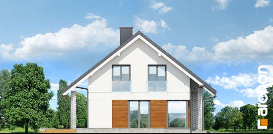 Elewacja boczna projekt dom w wisteriach 2 p  266