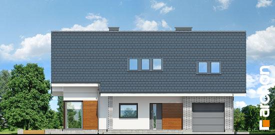 Elewacja frontowa projekt dom w wisteriach 2 p  264