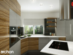 projekt Dom w wisteriach 2 (P) Wizualizacja kuchni 1 widok 1