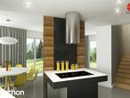 projekt Dom w wisteriach 2 (P) Wizualizacja kuchni 1 widok 2